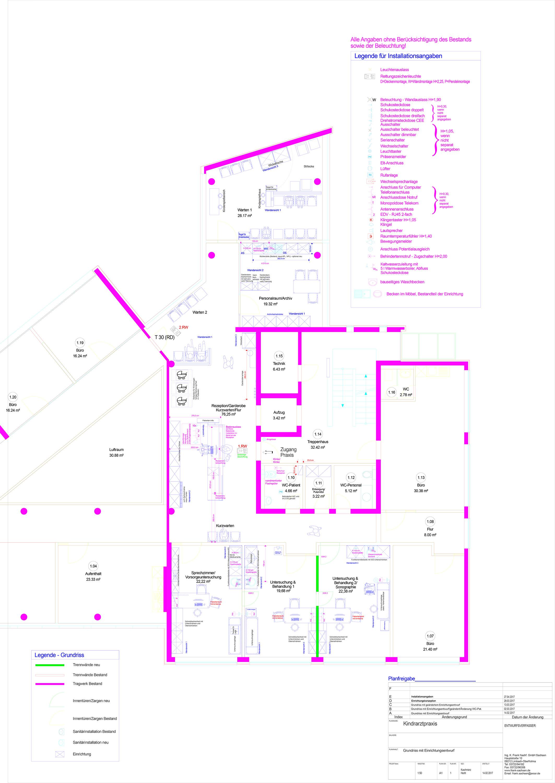 Installationsplanung-Grund_MVZ_Kinderarztpraxis_Installationsangaben